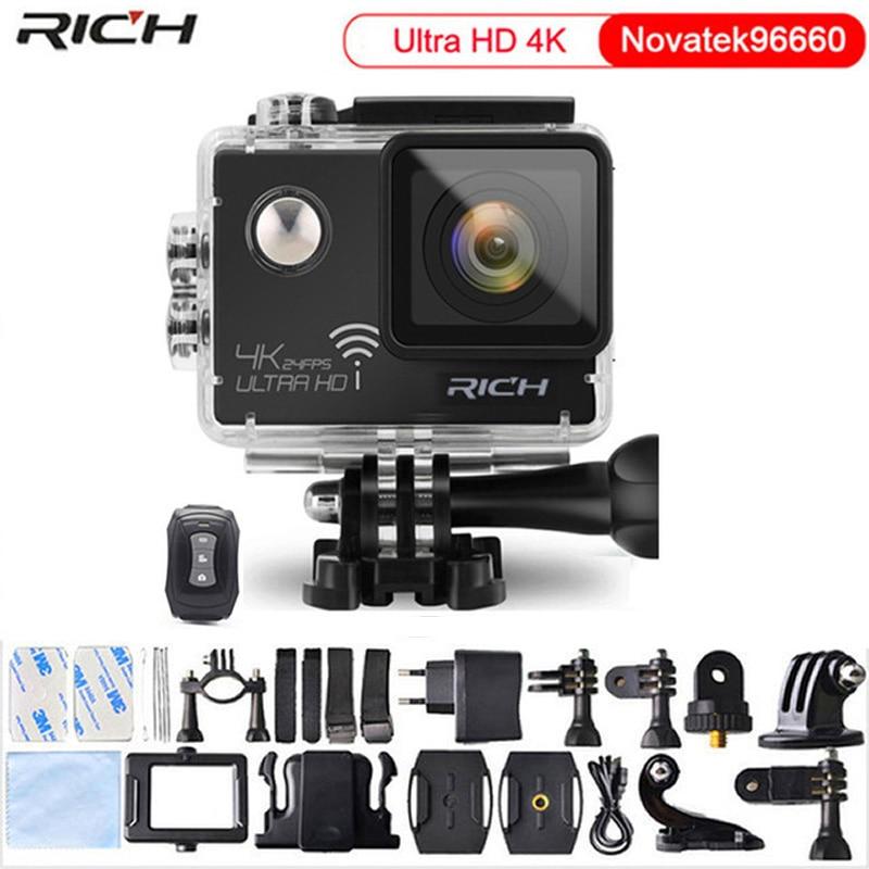 5 pcs/lots caméra d'action DHL gratuite ULTRA HD NT96660 4 K 24fps 16MP 3840*2160 Wifi étanche 170D objectif caméscope Sport caméra