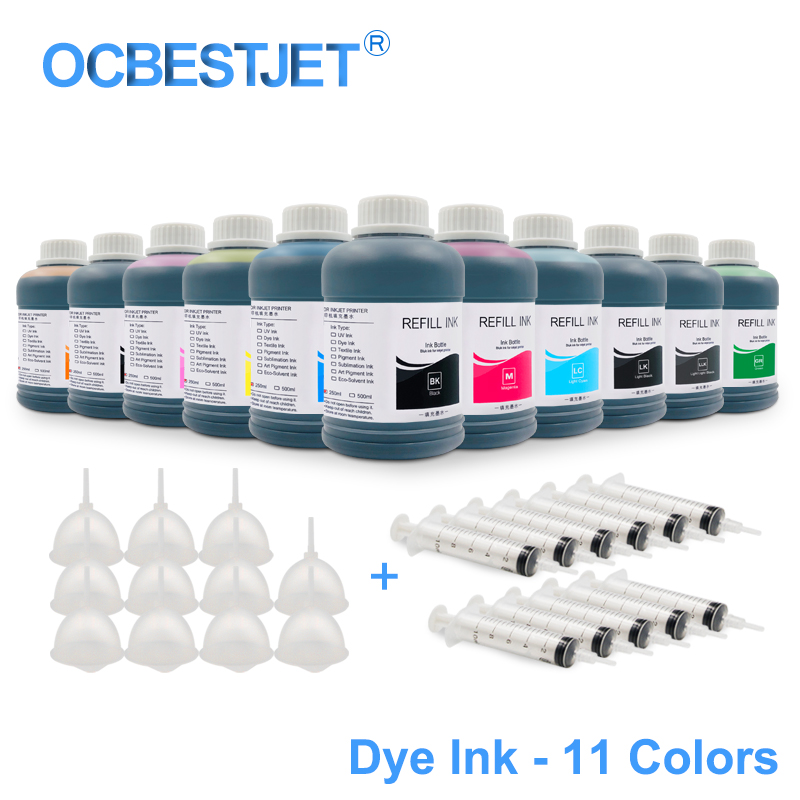 US $22 88 |11x250ML Universal Dye Ink Refill Ink Kit For Epson Stylus Pro  7900 9900 7910 9910 4900 4910 SureColor P6000 P7000 P8000 P9000-in Ink