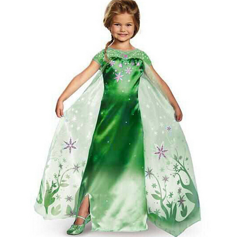 halloween costumes for kids girls green short sleeve long little girl party dresses 2016 in dresses from mother kids on aliexpresscom alibaba group