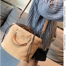 5b507b6ef547 Osmond Women Bucket Bag Winter Faux Fur Totes Luxury Crossbody Messenger  Bags Female Handbags Ladies Purses