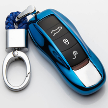 Soft TPU FOB Remote Key Case Key Cover Key Shell Replace For Porsche Cayenne Macan 911 boxster cayman for Panamera цена