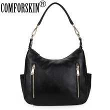 COMFORSKIN Genuine Leather Women Travelling Shoulder Bags New Arrivals Large Capacity Handbag High Quality Cross-body Bag