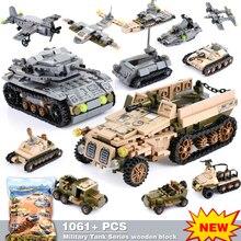 1061 + قطعة بنة مدينة كتل الجيش شاحنة اللبنات سيارة عسكرية Playmobil بناء لعبة للأطفال أطفال هدية