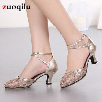 nuevo estilo 856bf 2bd53 2019 nuevos zapatos de tacón bajo para mujer, zapatos de baile, vestido de  fiesta de boda para mujer, zapatos de punta estrecha, talla 34 -42