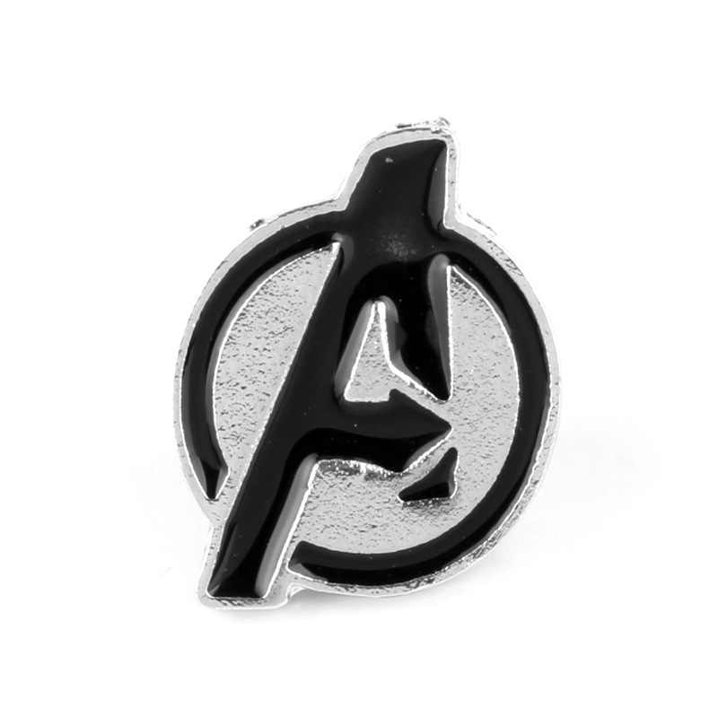 Vingadores Marvel Avengers Logo Pinos Broche Vintage Esmalte Crachá de Metal Broches Pingentes Acessórios de Cosplay do Anime Figura Brinquedos