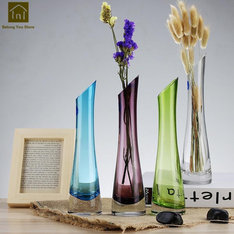 Crystal Tall Vases For Wedding Floor Vases Flower Transparent
