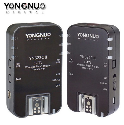 Yongnuo YN-622C II Wireless ETTL Flash Trigger Receiver Transmitter Transceiver for Canon 70d 6d 650d 1100d 80D 550d 60d 600d yongnuo yn 622c yn 622 wireless ettl hss 1 8000s flash trigger 2 transceivers for canon 1100d 1000d 650d 600d 550d 7d 5dii 40d