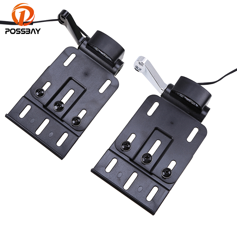 POSSBAY 8mm Black&Chrome Motorcycle Side Mount LED License Plate Lights Brackets for Harley Sportster XL883 XL1200 2004-2016 black derby timing timer cover for harley sportster xl883 xl1200 2004 later motorcycle timer cover