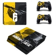 Tom Clancy's Rainbow Six Siege PS4 Slim Skin Sticker Vinyl For PlayStation 4 Console and Controllers PS4 Slim Skin Sticker Decal