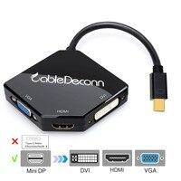 Thunderbolt 2 Hub Mini DisplayPort To HDMI VGA DVI Adapter Multiport 3in1 Cable Converter For Apple