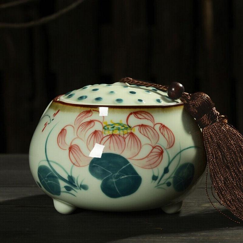 Handmade china vintage keramik tee vorratsdosen box container gläser fall box nahrung jar tanks versiegelt teedose topf kreative geschenke