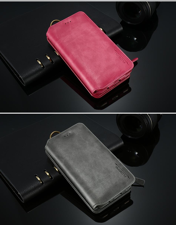 FLOVEME Hybrid Detachable Leather Case For Samsung Galaxy S7 Edge 18 Card Slot Metal Zipper Cash Storage Wallet Pouch Cover Bag (15)