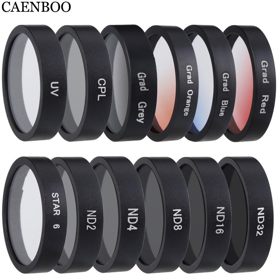 CAENBOO Drone UV CPL ND Star Color Lens Filter For DJI Phantom 3 4K/Advanced/Standard/Professional Pro/SE Gimbal Accessories цена