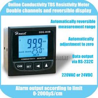Free Shipping Online Conductivity TDS Resisitivity Monitor Tester METER Analyzer 0-2000us/cm 0-1000ppm Alarm output