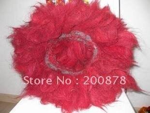 L034 тибетский мастиф из шерсти яка красный ошейник-кехор, ошейник Zangao, 2 слоя, для мужской собаки, 18 см, низкий минимальный заказ