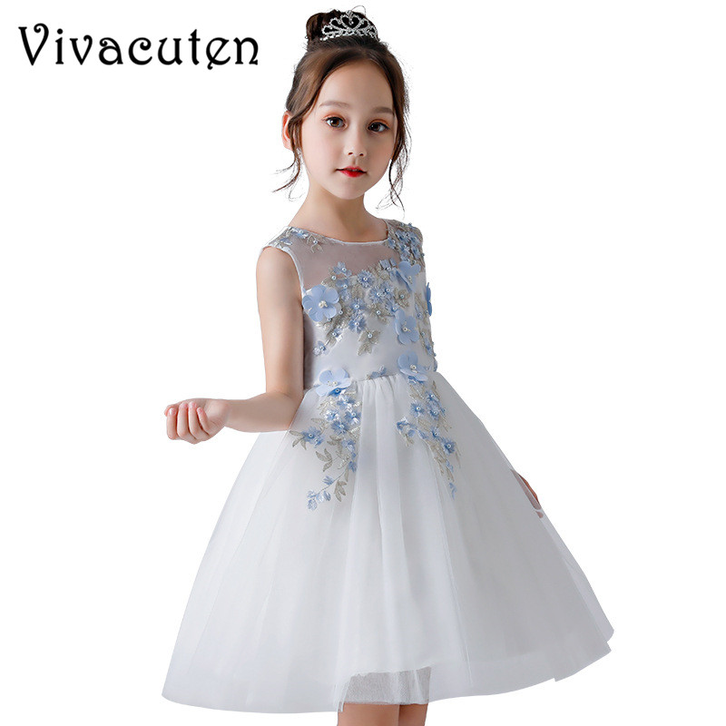 Girls Flowers Wedding Dress Girl Birthday Party Dress Fashion High-grade Kids Dresses Elegant New 2018 Girls Belle Clothing F225Girls Flowers Wedding Dress Girl Birthday Party Dress Fashion High-grade Kids Dresses Elegant New 2018 Girls Belle Clothing F225