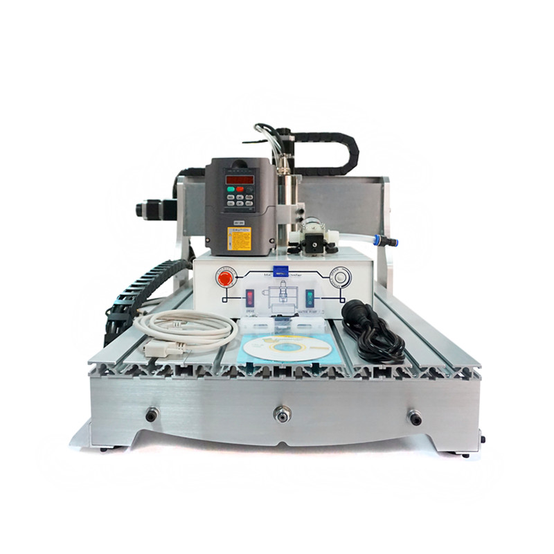 CNC Router 6040 Z-S800 4 axis engraving machine for wood metal cutting eur free tax cnc 6040z frame of engraving and milling machine for diy cnc router
