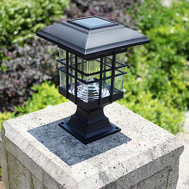 CLAITE 3LED Solar Power Outdoor Waterproof Street Light Lawn Lamp Garden Lawn Landscape Decorative Pathway Street Light
