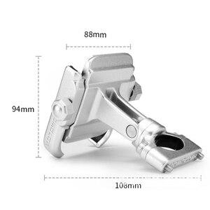Image 3 - Universal Aluminum Alloy Motorcycle Phone Holder For iPhoneX 8 7 6s Support Telephone Moto Holder For GPS Bike Handlebar Holder