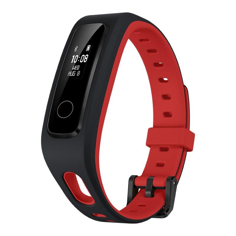 Honor Band 4 Running, brassard tracker d'activité, noir, rouge, polyuréthane, 50 m, OLED