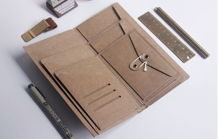Travelers notebook kraft paper pocker business card holder standard travelers notebook kraft paper pocker business card holder standard passport style file folder in file folder from office school supplies on colourmoves