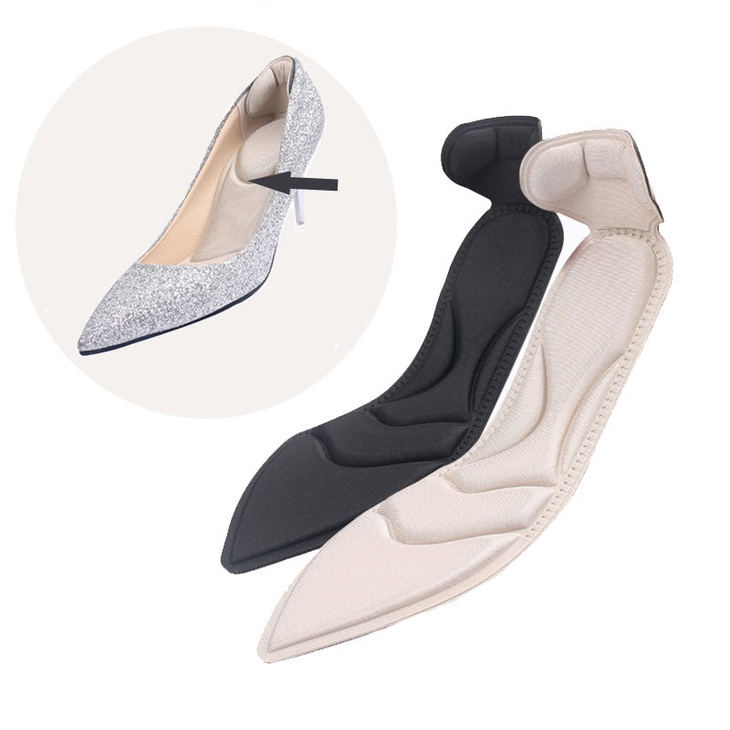Insole Pad Inserts Heel Post Back Breathable Anti-slip For High Heel Shoes Reduces Pressure Prevent Of Blisters 1 Pair