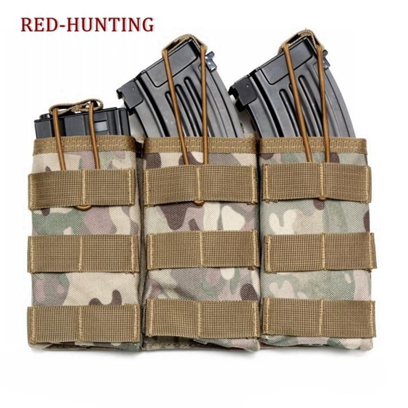 Équipement de survie tactique 3 poches de magazines Molle goutte utilitaire pochette sac taille extérieure sac outil pochette de voyage
