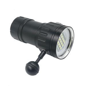 Image 5 - Latarka LED do nurkowania wykorzystuje 6 XHP70 /90 koraliki do lampy wyróżnij 20000 lumenów fotografia wideo światło z niebieskim + białym + czerwonym