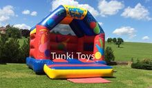 inflatable party time theme bouncer castle