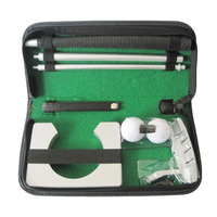 Portable Travel Indoor Golf Putting Practice Kit Ball Putter Training Set Golf Tranning Aids EA14
