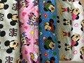 100*170 см Мультфильм Микки Минни эластичность трикотажные хлопчатобумажная ткань Для Пошива diy Лоскутное девочка рубашка одежда Текстиль