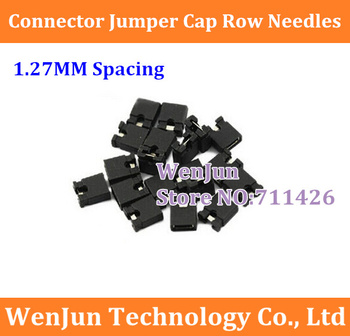 200PCS/LOT Connector jumper cap  1.27 MM spacing  row needles short-circuit caps short circuit block