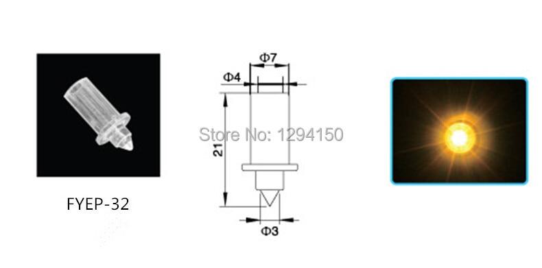 Купить с кэшбэком FYEP-32  For Fiber Optic Ceiling Pointed Lights 100pcs Decoration Fiber Optic End Fittings with 0.75mm/1.0mm/1.5mm Fixed Plugger