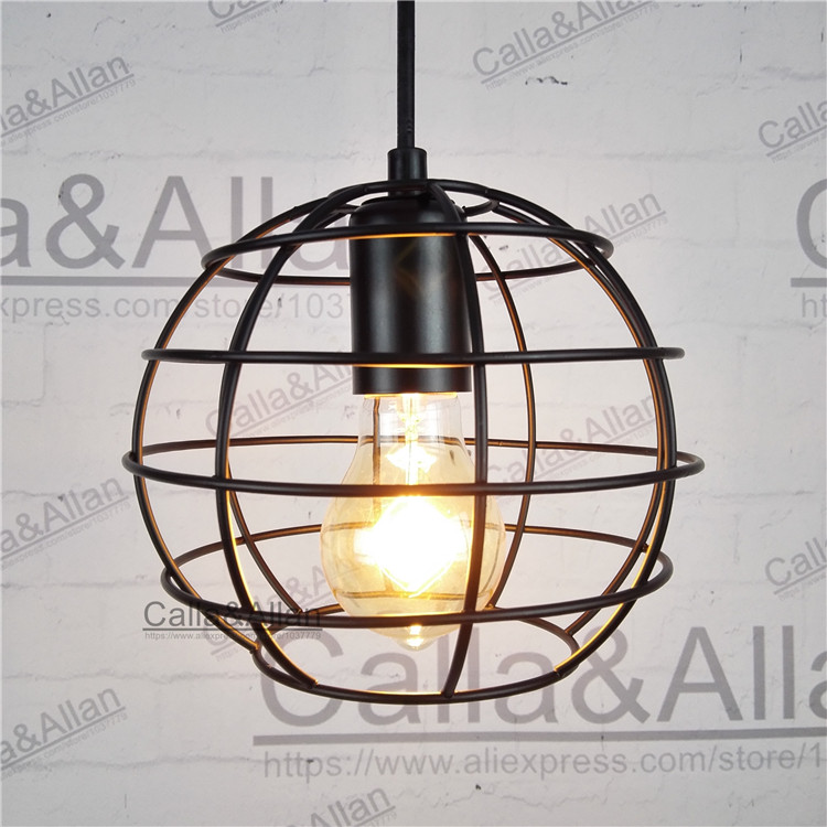 D180mm black round iron cage with 1.2meter cable wire and ceiling mount hanging lamp edison bulb E27 globependant light 40WD180mm black round iron cage with 1.2meter cable wire and ceiling mount hanging lamp edison bulb E27 globependant light 40W