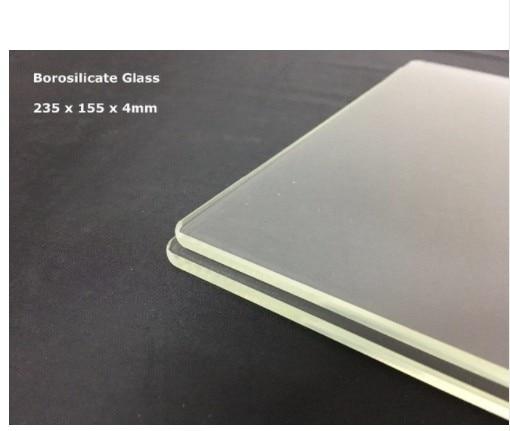 235mm x 155mm x 3mm Borosilicate Glass Plate for Flashforge Dreamer Pro and Creator 3D Printer Platform Printing Bed 235x155x3mm
