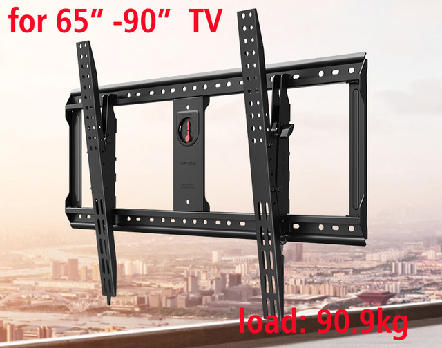 "NB DF90-T 65""-90""80""70"" with build-in bubble huge TV Flat Panel LED LCD Wall Mount bracket Tilt Monitor Mount with bubble level"