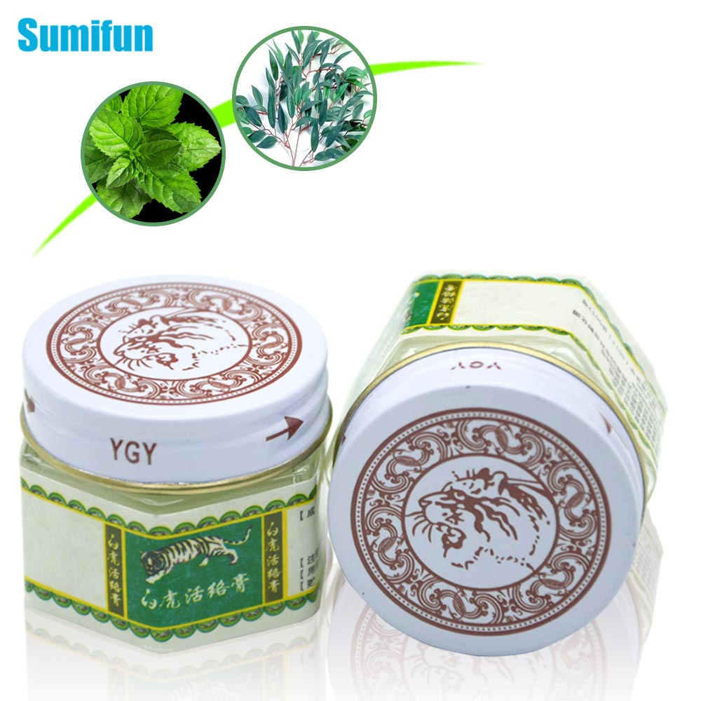 Sumifun 1Pcs White Tiger Balm Ointment Muscle Shoulder Joint Arthritis Pain Relief Cream Chinese Herbal Medical Plaster P0019
