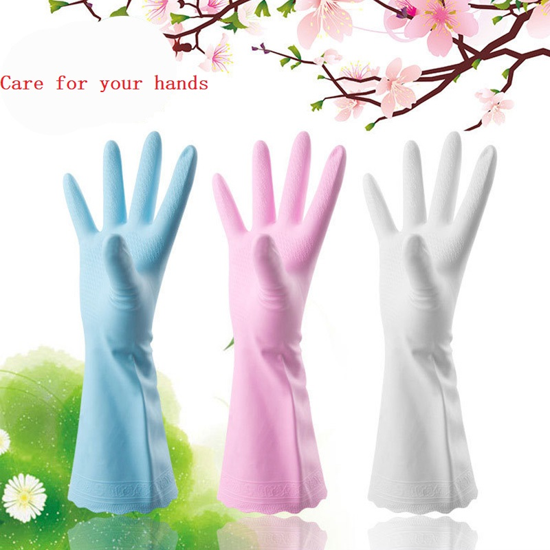 1 Pair Creative Durable Antiskid PVC Rubber Cleaning Gloves Clothes Dishes Washing Household Kitchen Clean Laundry Gloves in Household Gloves from Home Garden