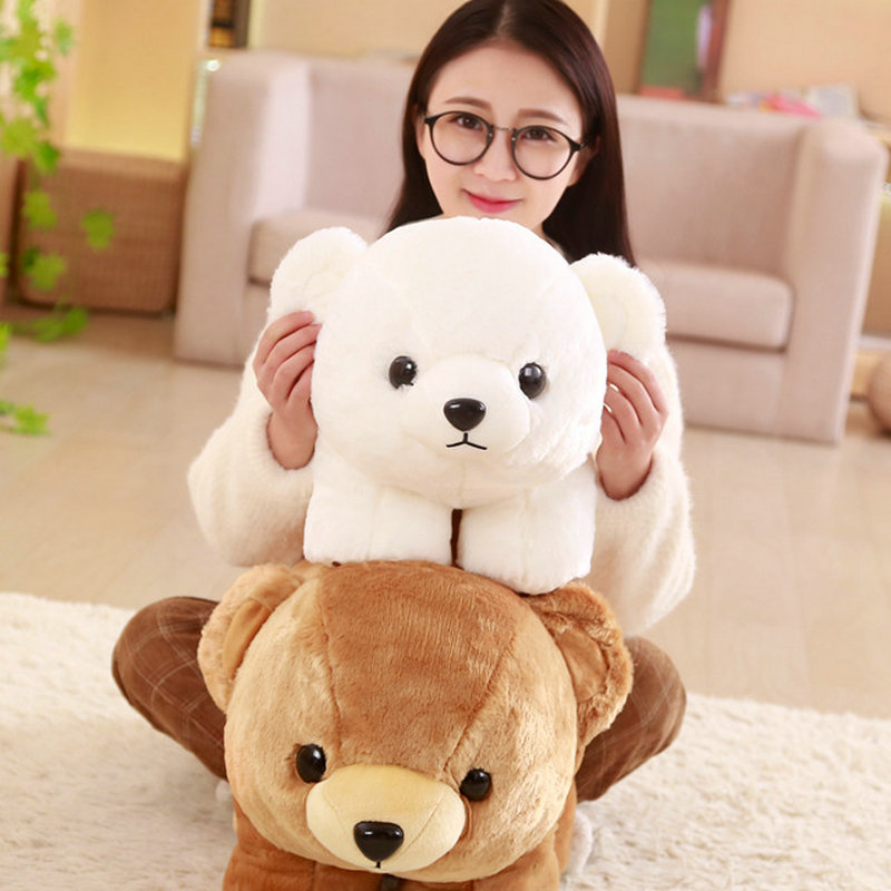 Drop shipping 40/50cm Cute stand bear plush toys stuffed animals birthday/Childrens day gift for Kids Teddy white bear doll