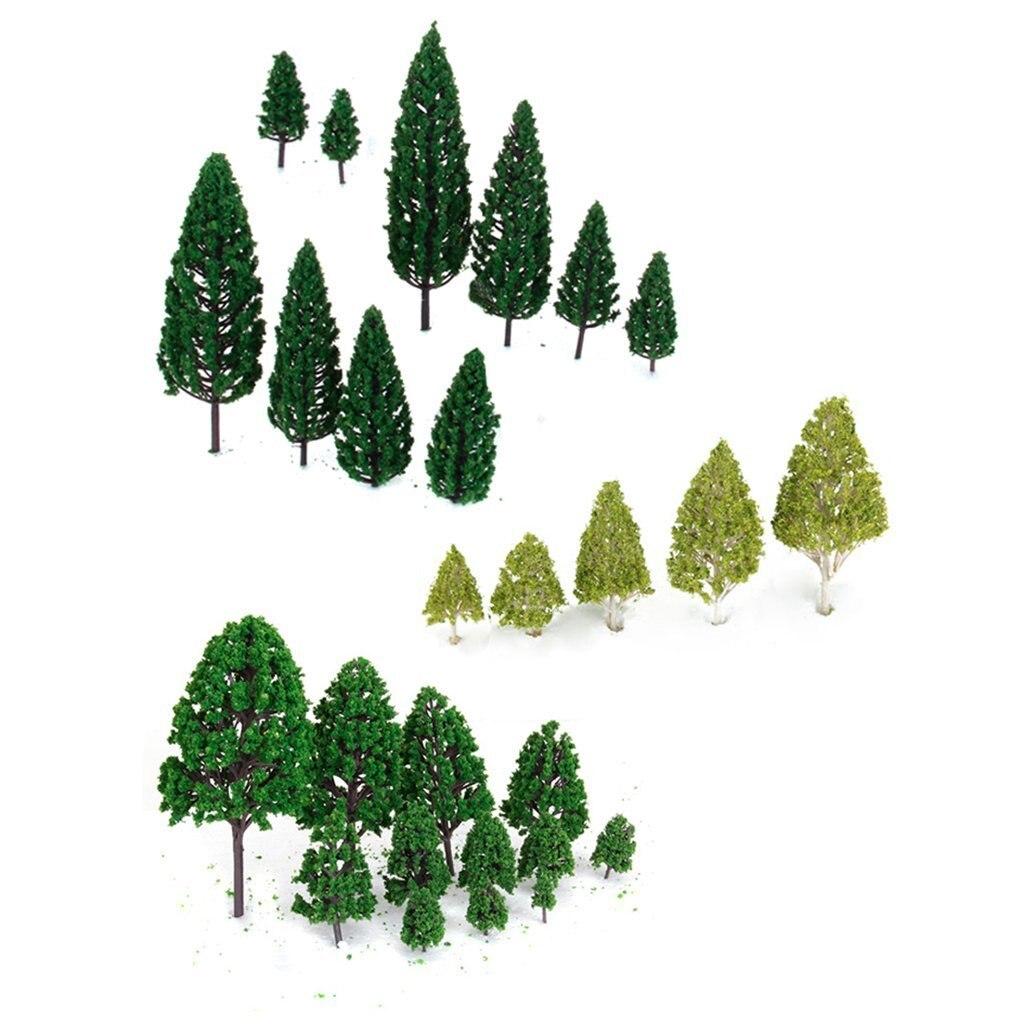 HEIßER VERKAUF 27 stücke Landschaft Layout Landschaft Zug Modell Bäume 3-16 cm 3-Type