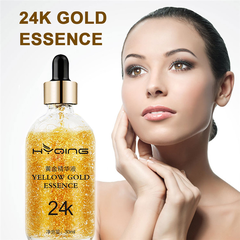 1Set=30ml 24K Gold Tightening Brightening Anti Wrinkle Aging Essence Liquid For Moisturizing Skin Improve Skin Moisturizes Skin