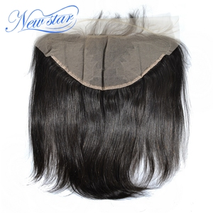 Image 2 - New Star Brazilian Straight Virgin Hair 13x6 Lace Frontal Closures 100% Human Hair Pre Plucked Hairline With Baby Hair Closure