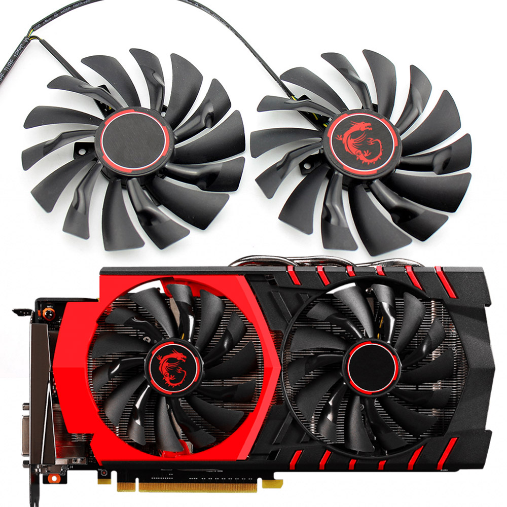 2PCS/lot 95mm PLD10010S12HH 4PIN Cooler Fan For MSI GTX 960 GTX980Ti GAMING GTX 950 GTX 1060 RX 470 GAMING X Graphic Card Fan