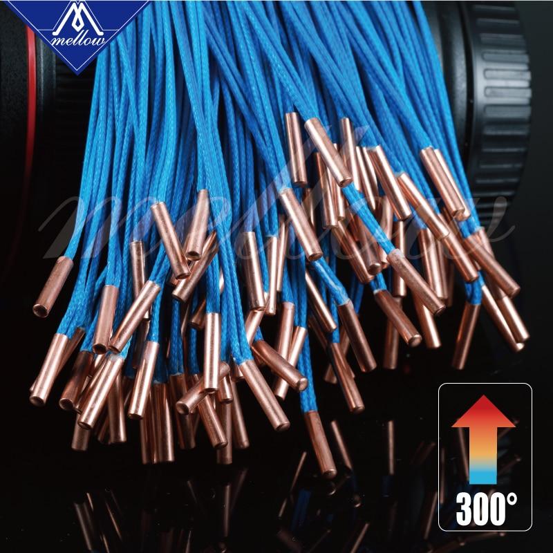 Mellow High Temperature ATC Semitec 104GT-2 104NT-4-R025H42G Thermistor Cartridge 280℃ For E3D V6 Volcano Heater Block
