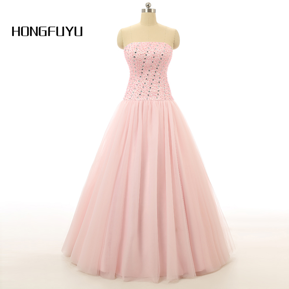 Beauty Lovely Sleeveless Lace up Ball Gown Beading Long Prom Dresses ...