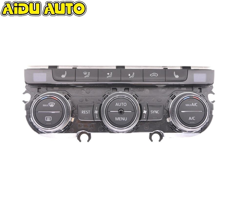 Climatronic Air Condition Control Switch Panel AC Seat Heater For MQB Tiguan Golf MK7 Passat B8