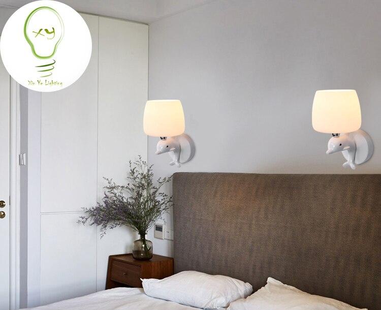 Moderne wandlamp dolfijn mode creatieve art deco verlichting