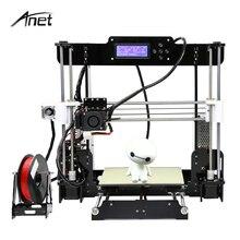 Анет A8 3D-принтеры Высокая точность RepRap Prusa i3 печати DIY 3D-принтеры комплект с 10 м нити + 8 г SD карта + Алюминий очаг + Инструменты