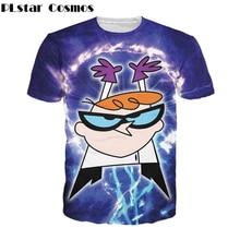 Plstar Космос мужские и женские футболки с рисунками из мультфильмов Забавный Рыжий Маленький гений Dexter Декстера лаборатория Футболка полностью 90 s футболки