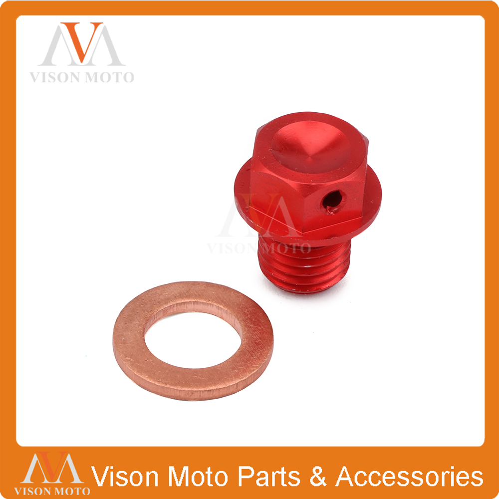 Billet Magnetic Oil Drain Plug Bolt For <font><b>ATC</b></font> 110 125M 185S 200 250 70 90 Big Red Foreman <font><b>400</b></font> 450 500 FourTrax 300 350 Rancher image
